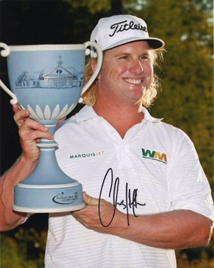 Charley Hoffman, American golfer, signed 10x8 inch photo.